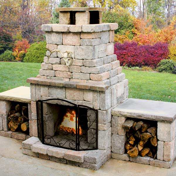 Backyard Fireplace Plans