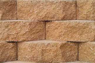 Caesar Beveled Wall Block Tan