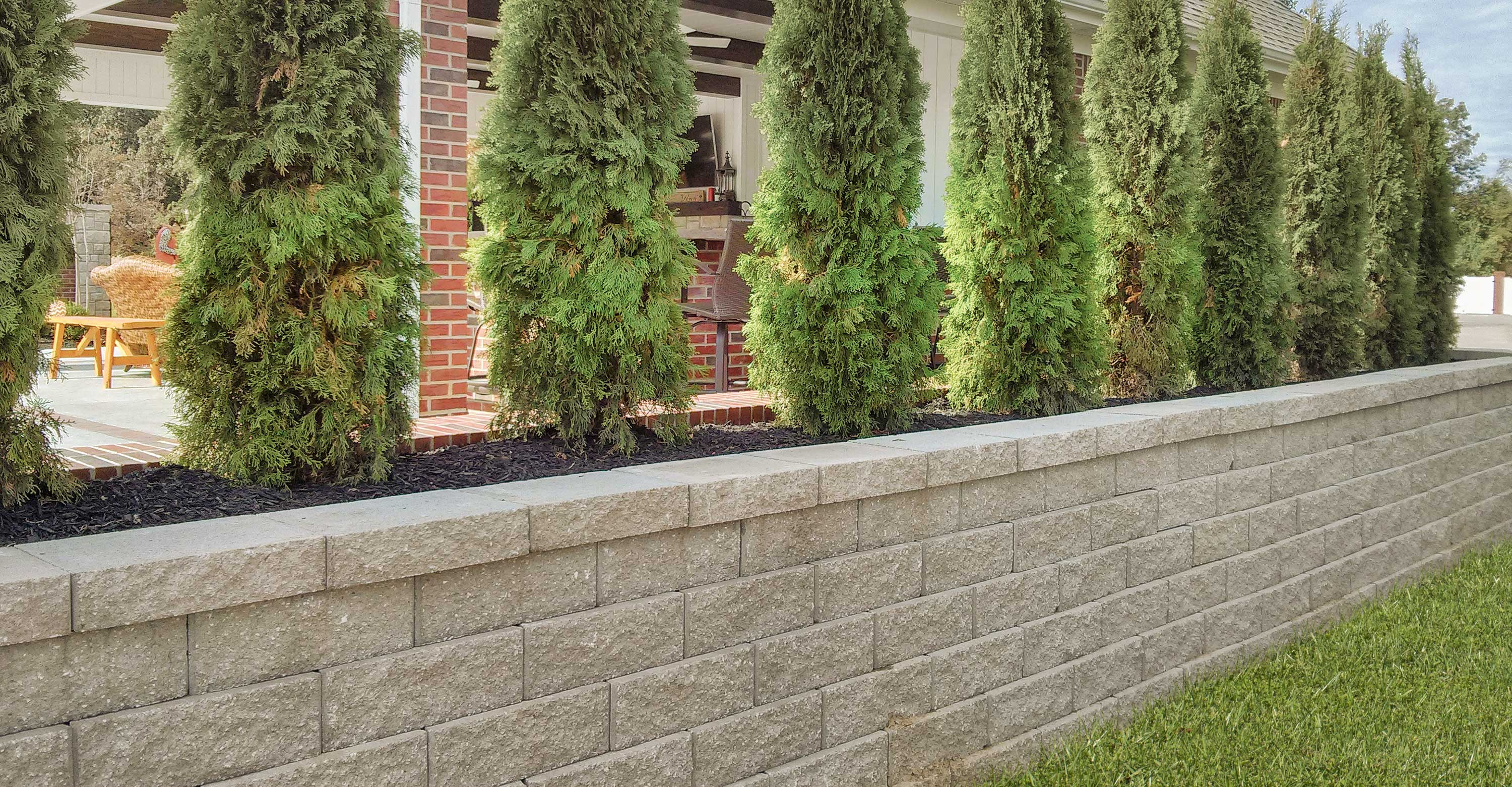 Caesar Straight Retaining Wall Is Easy To Install And Easy