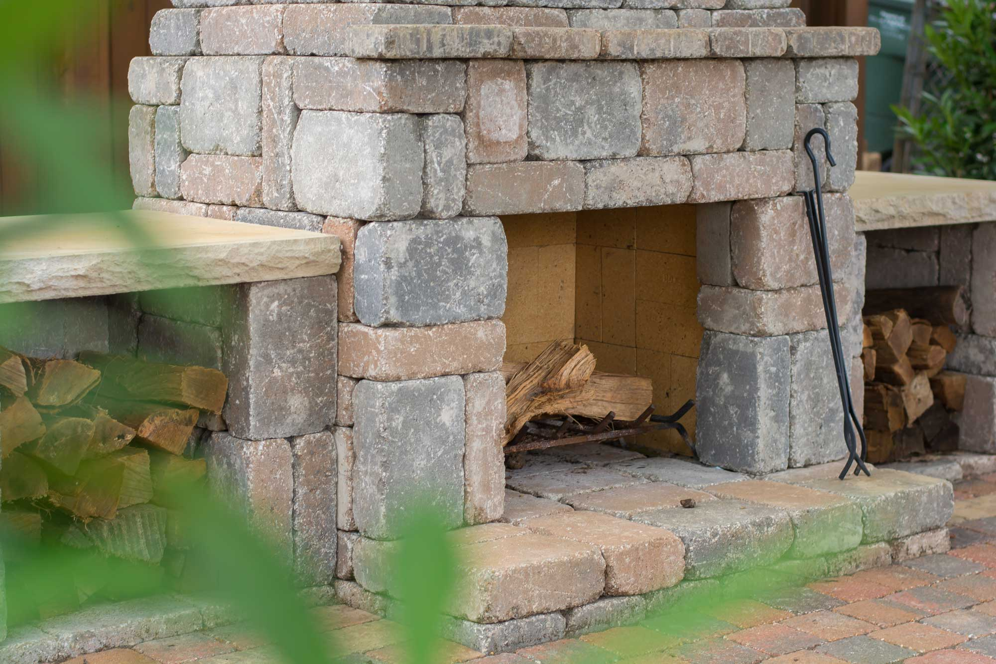 Wood Boxes Kit Makes Upgrading Your Outdoor Fireplace