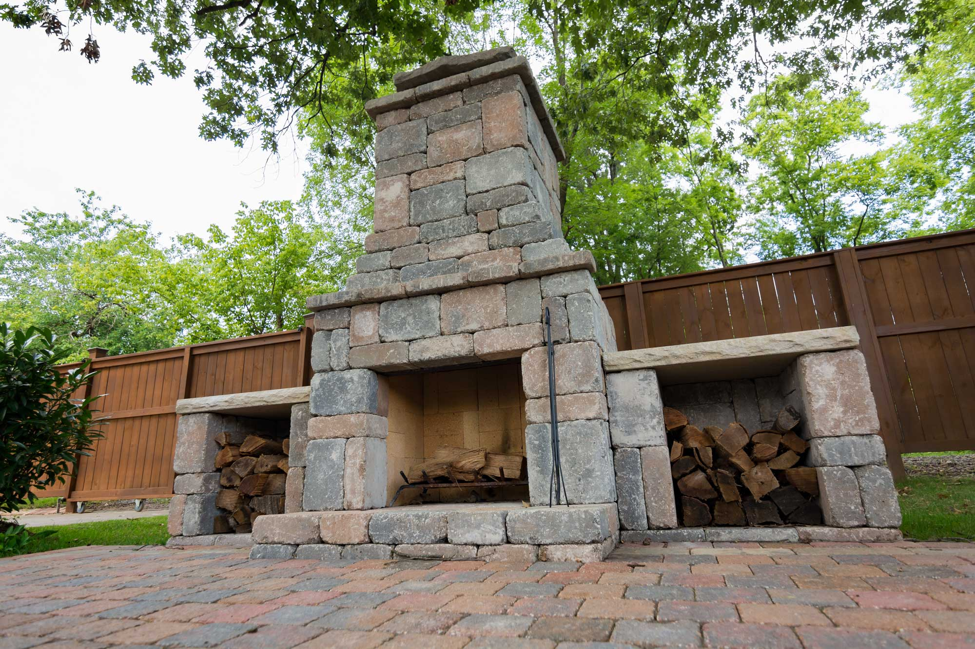 wood boxes kit makes upgrading your outdoor fireplace simple and fast