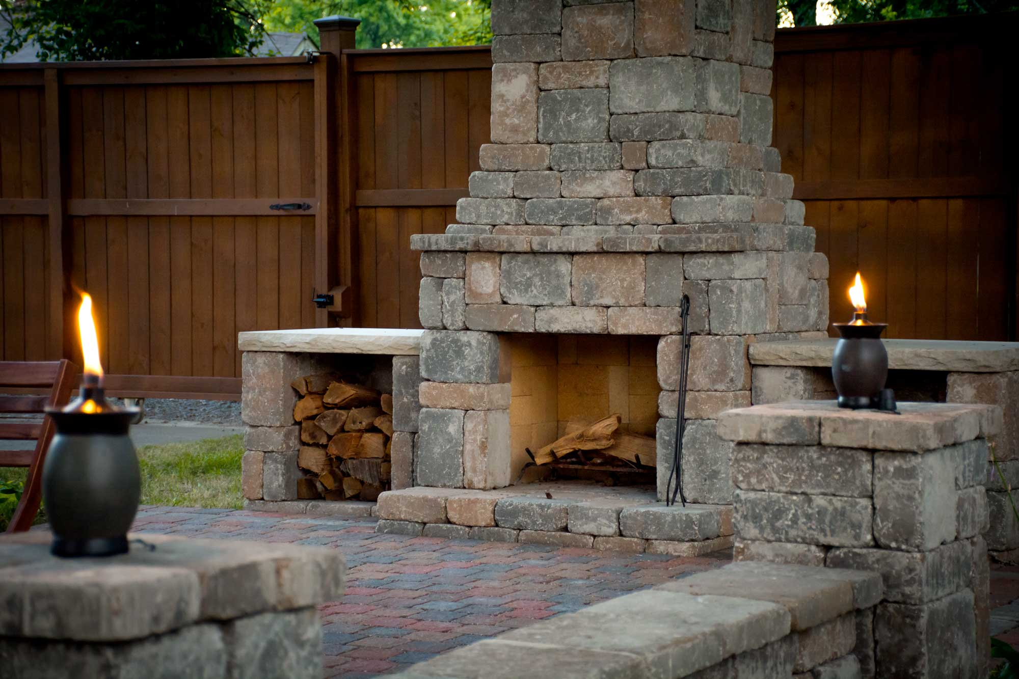DIY outdoor Fremont fireplace kit makes hardscaping simple ... on Diy Outdoor Fire id=76751