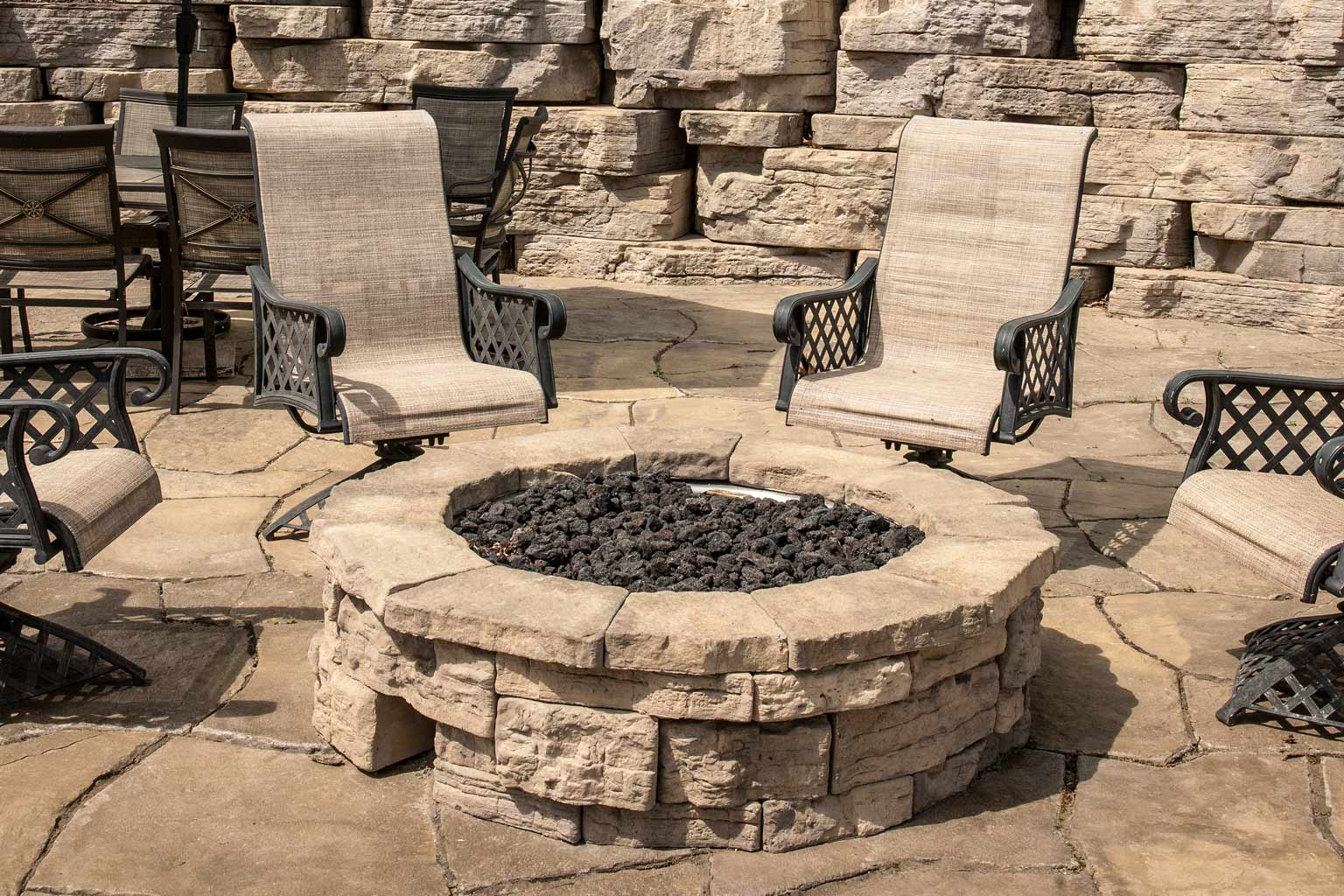 Home ... - Rosetta Belvedere Round Fire Pit Adds A Touch Of Class To Your Landscape