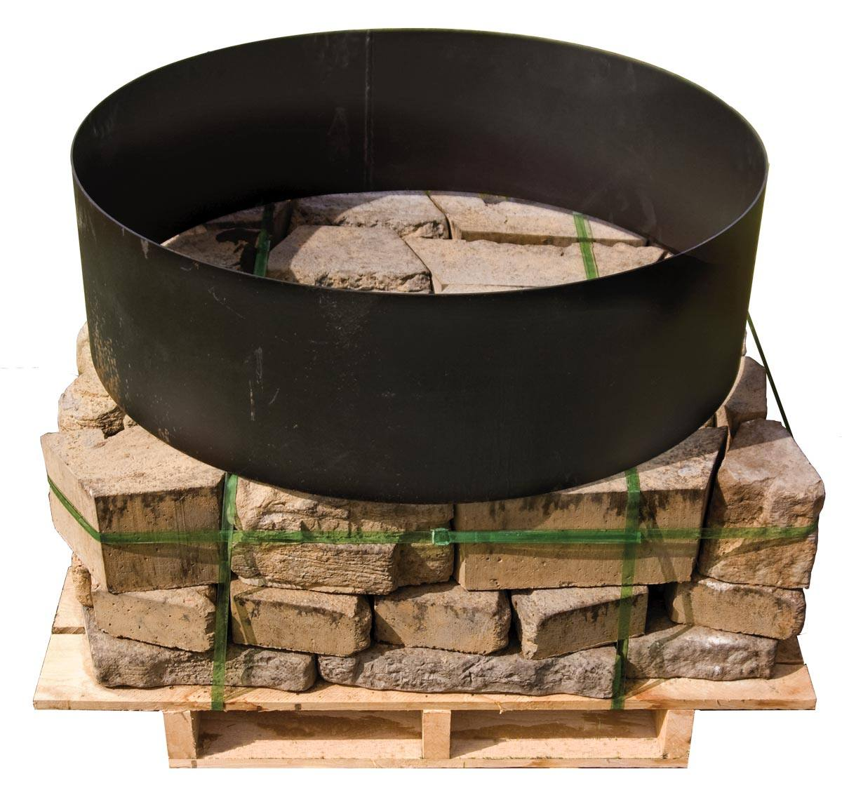 Rosetta belvedere round fire pit adds a touch of class to for Pallet fire pit