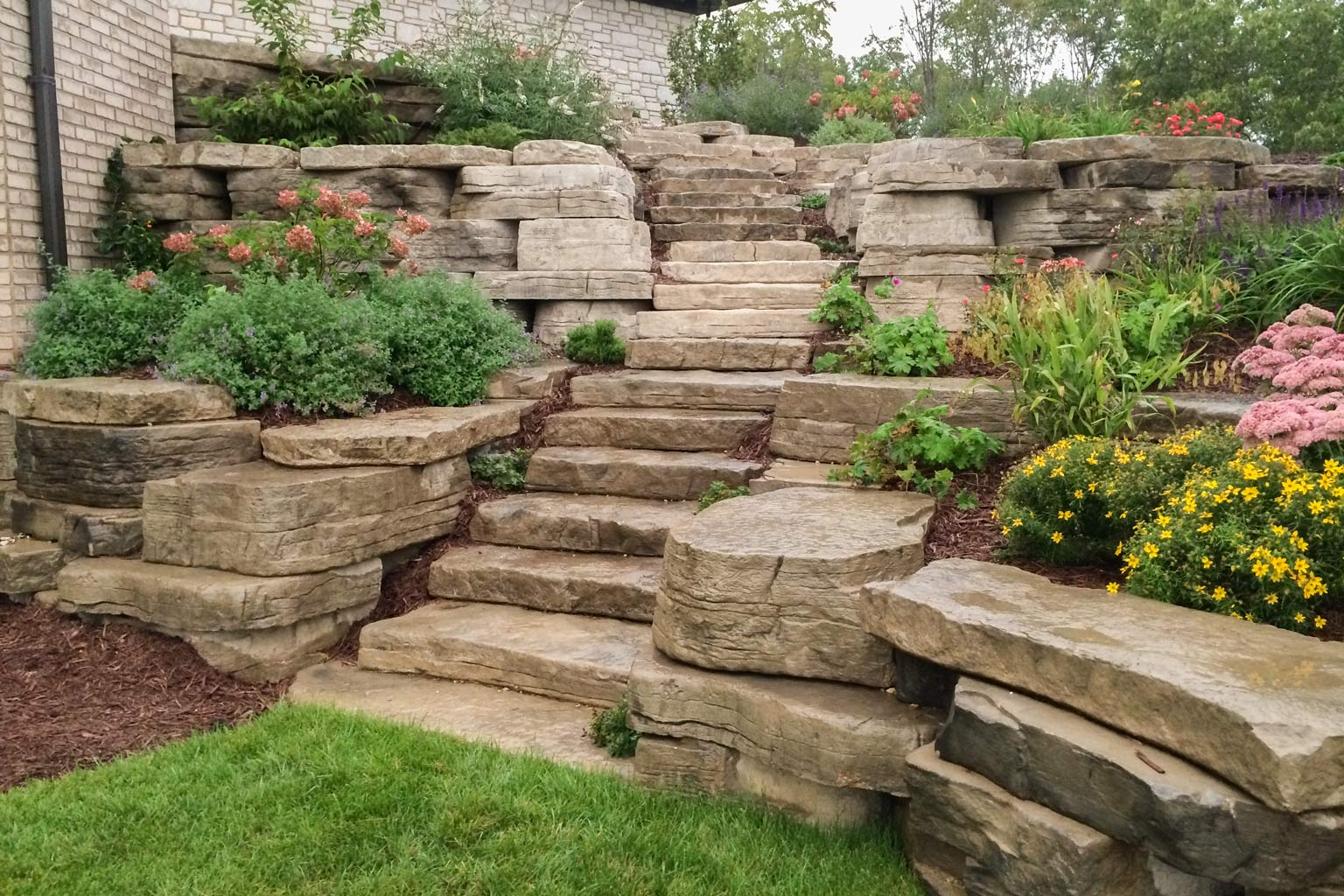 Rosetta Irregular Steps Have Stone Like Shapes For