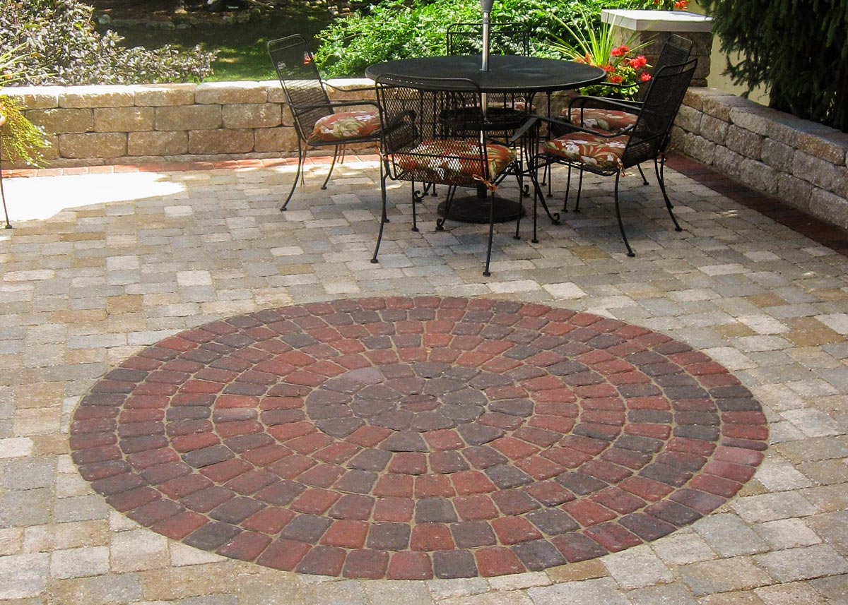 One Cobble Paver Circle Kit Makes A 8.5u0027 Circle As Shown Here In Terra  Cotta Blend.
