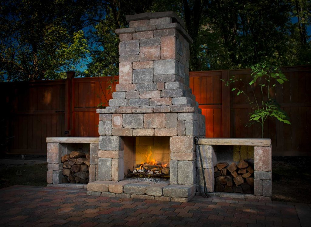 DIY outdoor Fremont fireplace kit makes hardscaping simple ... on Diy Outdoor Fire id=24132