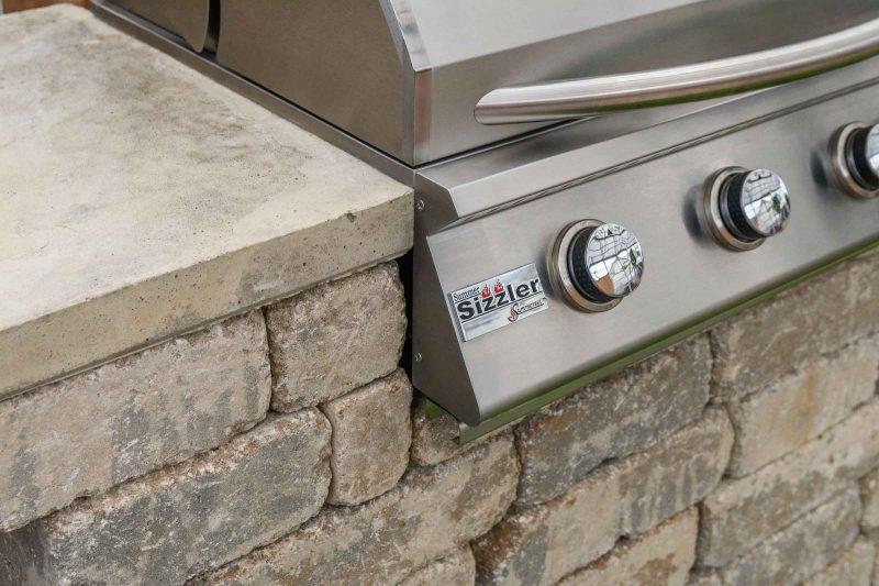 Willard Grill Island grill detail