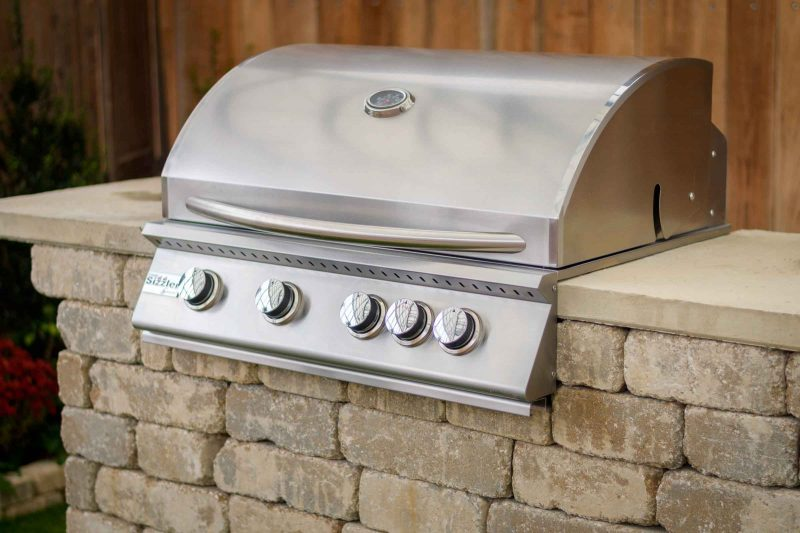 "Willard 32"" stainless gas grill outdoor grilling station kit"