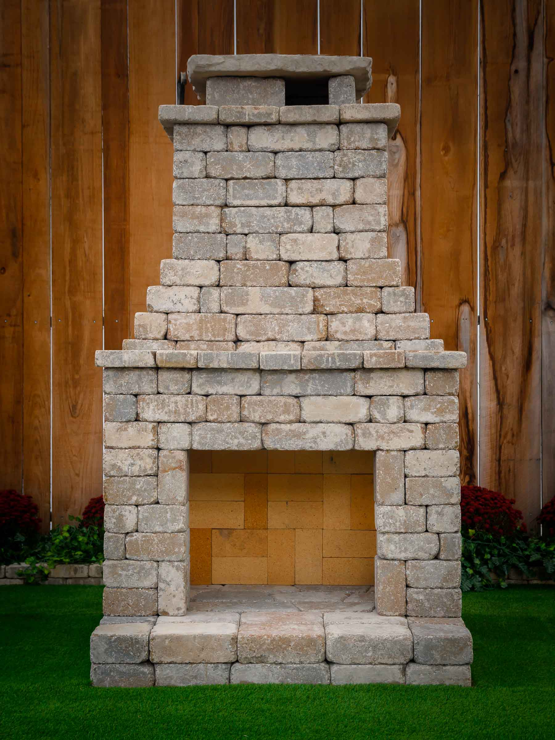 "DIY Outdoor Fireplace Kit ""Fremont"" makes hardscaping ... on Diy Outdoor Fire id=43538"