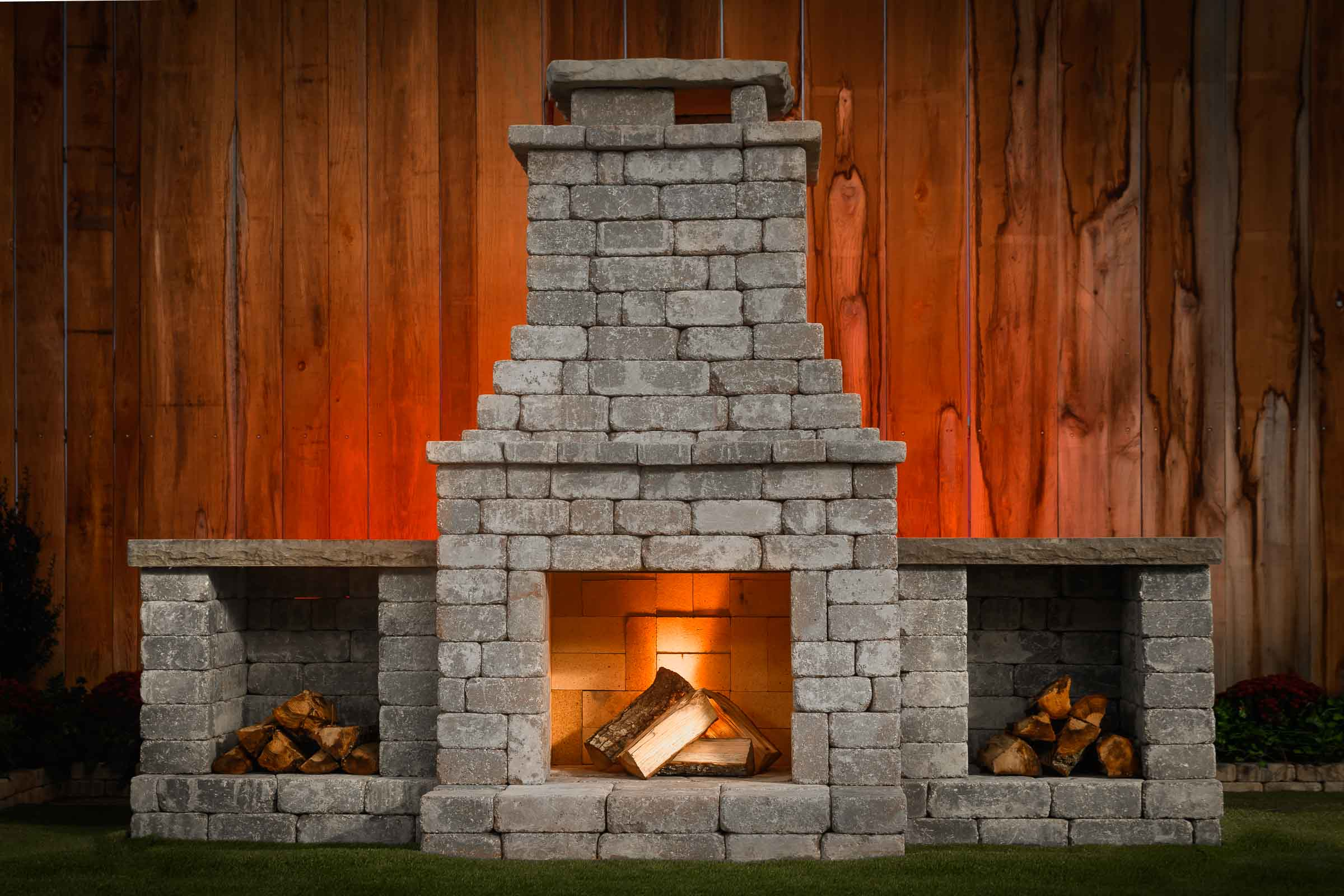 Diy Outdoor Fireplace Kit Fremont Makes Hardscaping Cheap