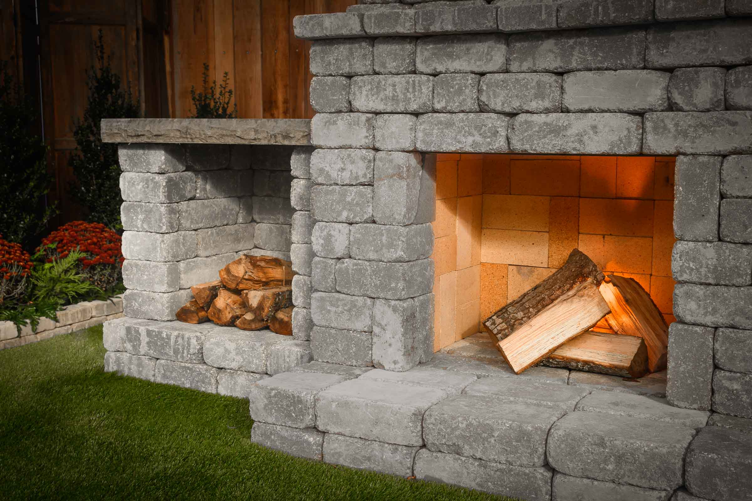 "DIY Outdoor Fireplace Kit ""Fremont"" makes hardscaping ... on Diy Outdoor Fire id=44424"