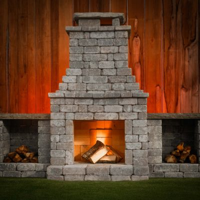 Fireplace outdoor living kit