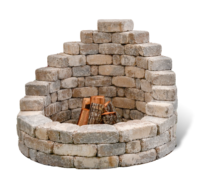Latessa Upscale Fire Pit Kit for small backyards