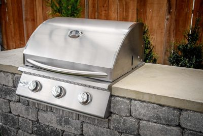 "Willard 26"" stainless gas grill outdoor grilling station kit"