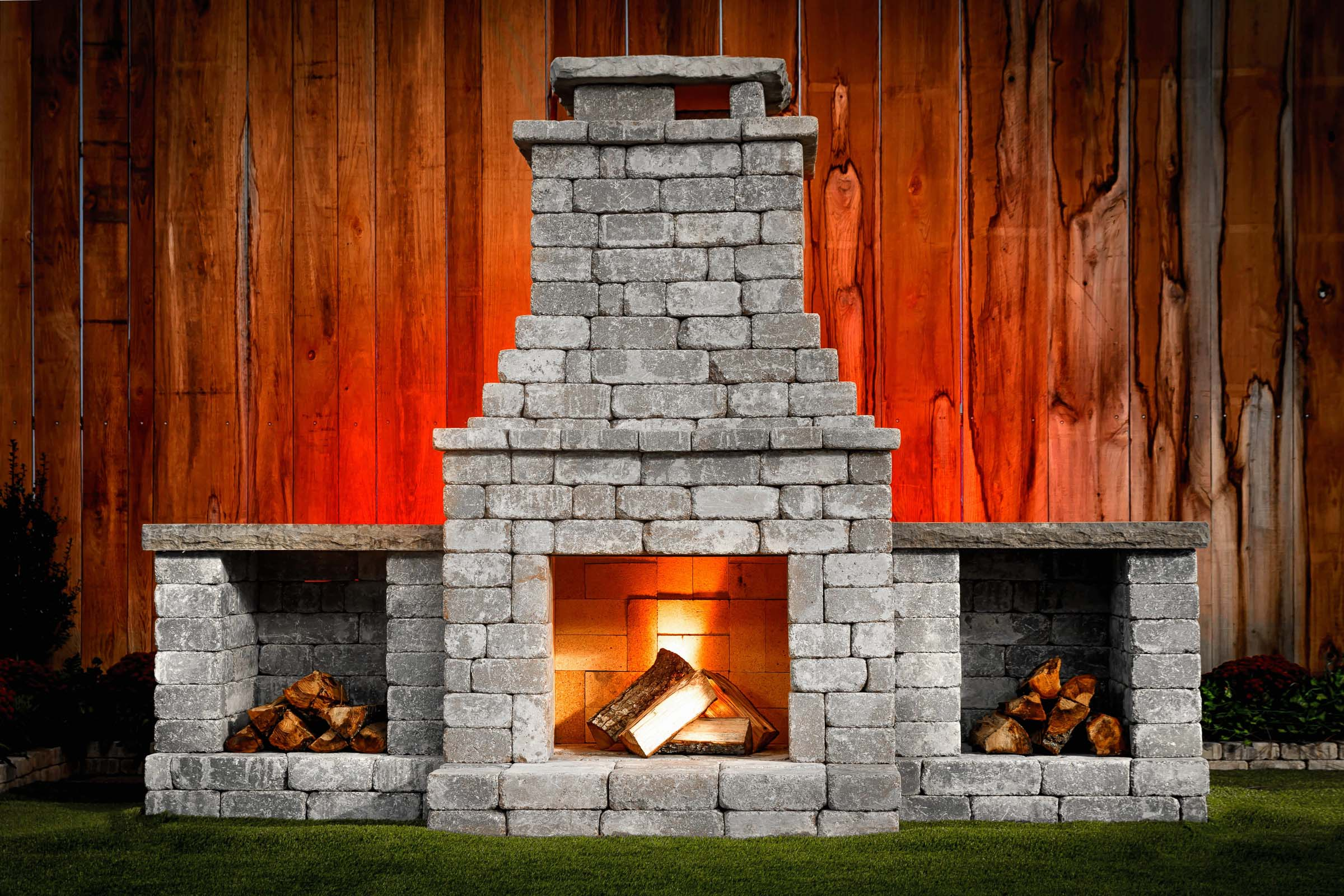 Diy Outdoor Fireplace Kit Quot Fremont Quot Makes Hardscaping