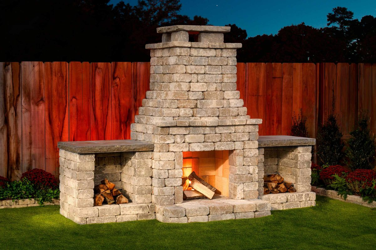 Fremont Diy Outdoor Fireplace Kit Makes Hardscaping Easy And Fast