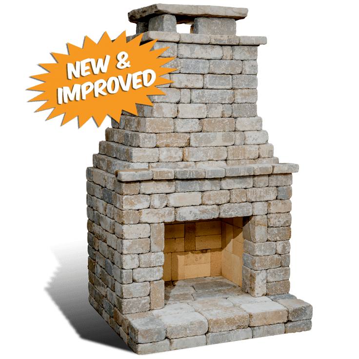 Fremont II outdoor fireplace kit