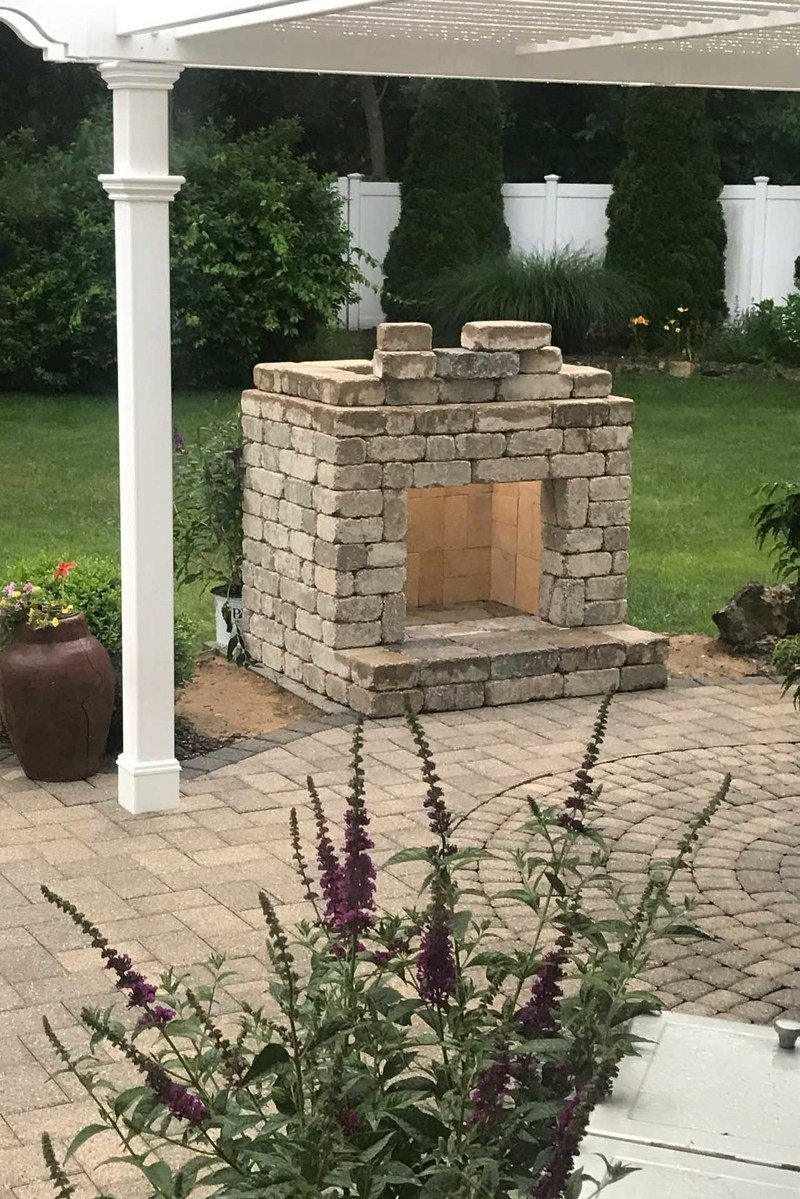 Romanstone fireplace kit adds affordable luxury to your outdoor living area