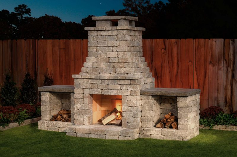 "DIY Outdoor Fireplace Kit ""Fremont"" makes hardscaping ..."