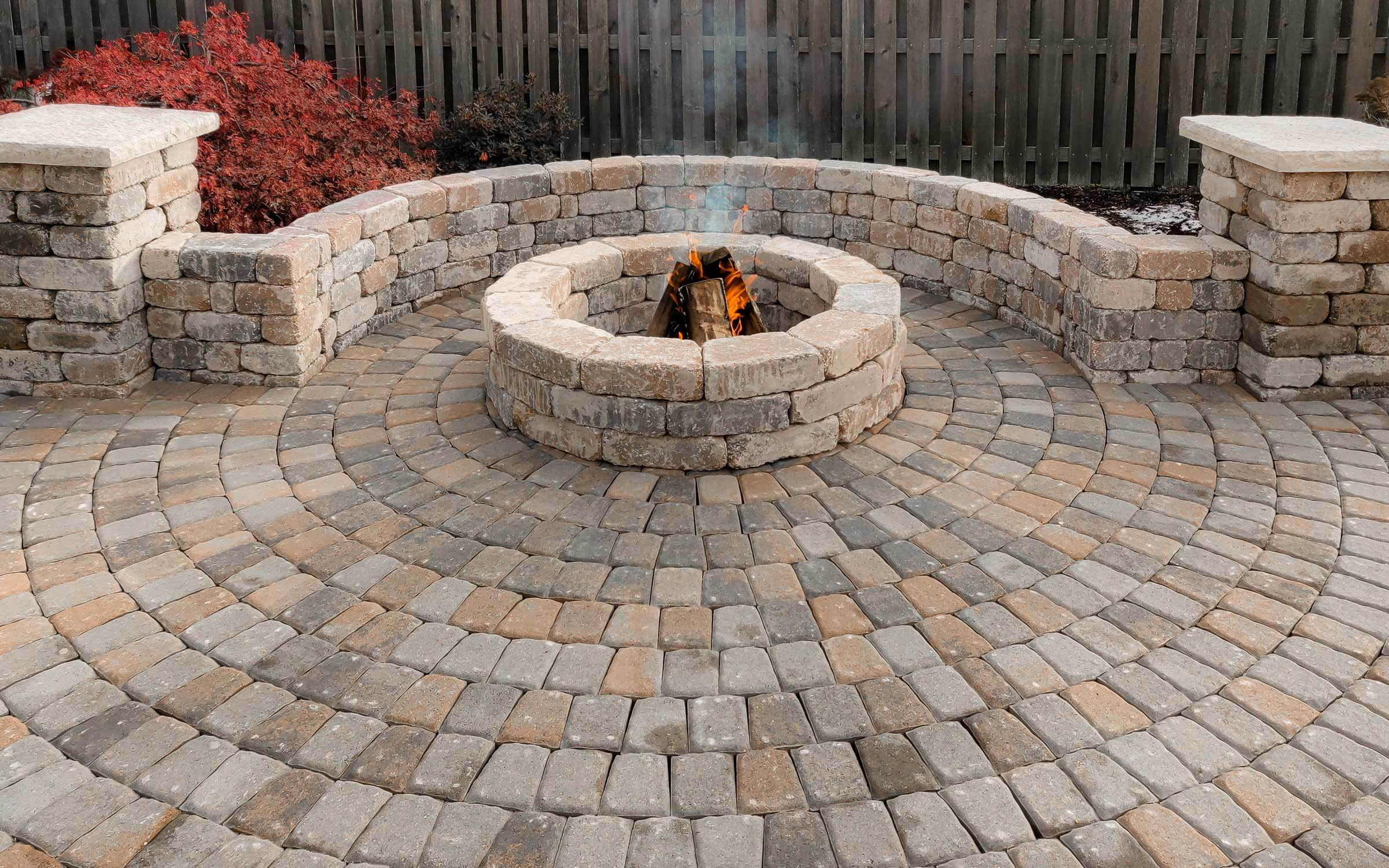 Paver Circle Kit Allows You To Add Interest And Curves Your Patio