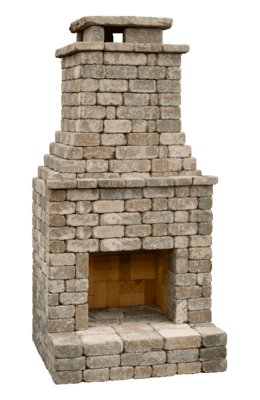 Diy Outdoor Fireplace Kit Fremont